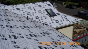 roofing under layment for a roof replacement