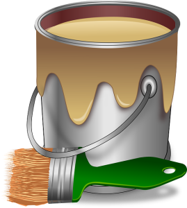 Painting trim/paint can