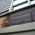 Dry rot exposed on siding repairs in Portland