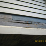 Weather barrier ripped on siding repair