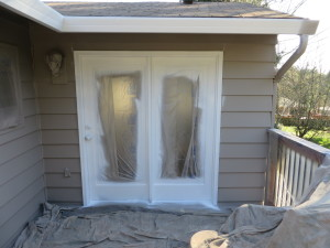French Doors Masking Painting Vancouver Wa