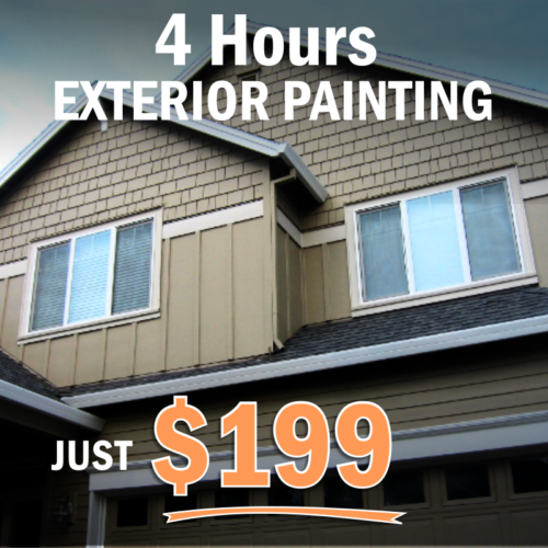 4 hours of exterior painting for $199 - SFW Construction