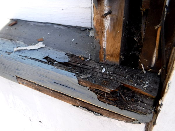 Dry rot repairs to a window sill in Seattle, Washington - SFW Construction LLC