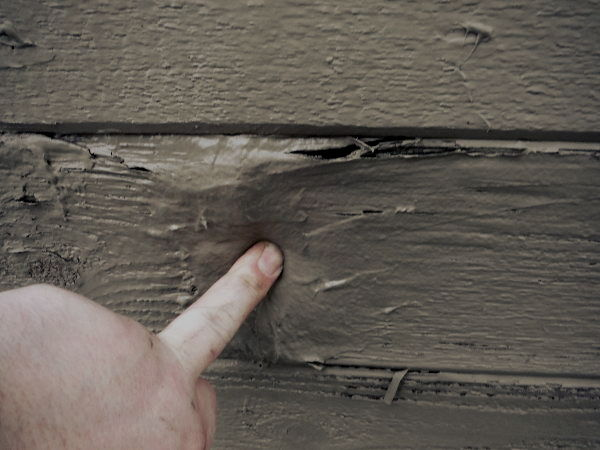 Checking for dry rot in siding - SFW Construction LLC