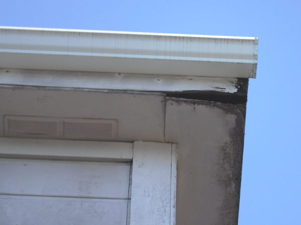 Dry rot in a home's eaves in Seattle, Washington - SFW Construction LLC
