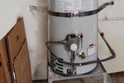 Water heater strapping. SFW Construction LLC.