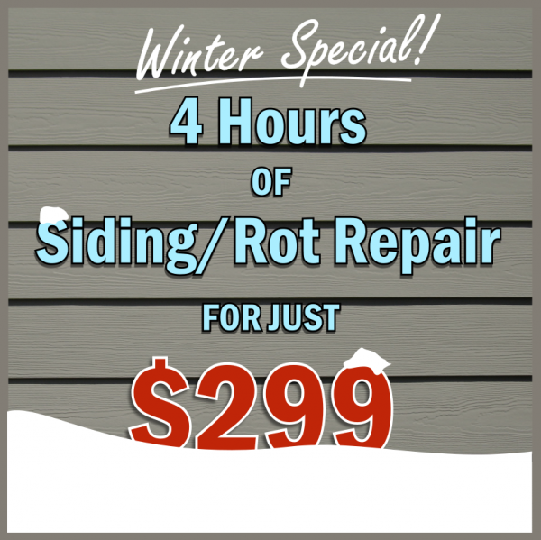 Winter Deal - 4 hours of home repair for just $299. SFW Construction LLC.
