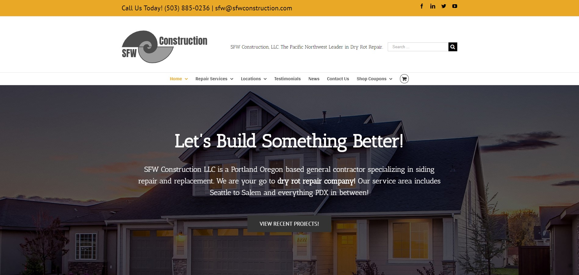 New SFW Construction website