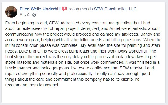 sfw construction facebook review