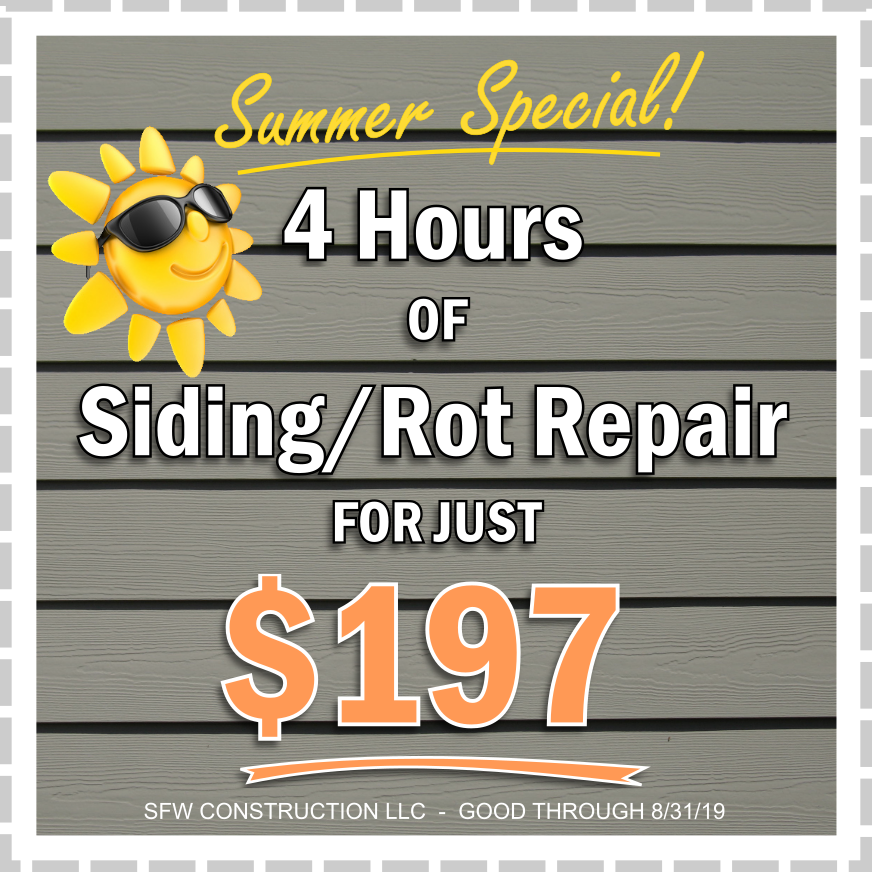 Special Deal: 4 hours of exterior home repair work for $197 - SFW Construction