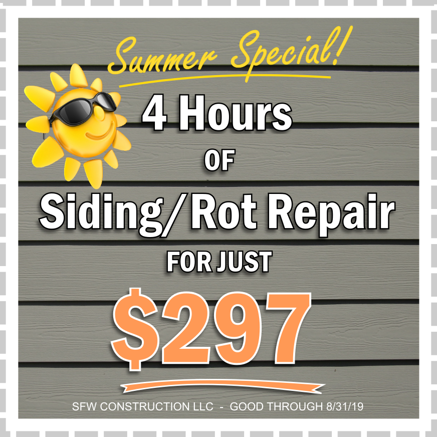 Special deal: 4 hours of exterior home repair for just $297 - SFW Construction