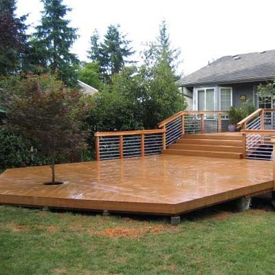 Deck, Stairs, And Railings
