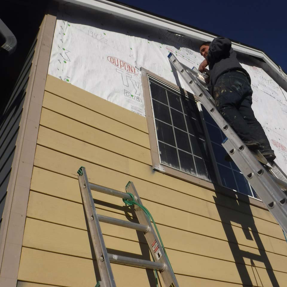 Weather Resistant Barrier Under New Siding