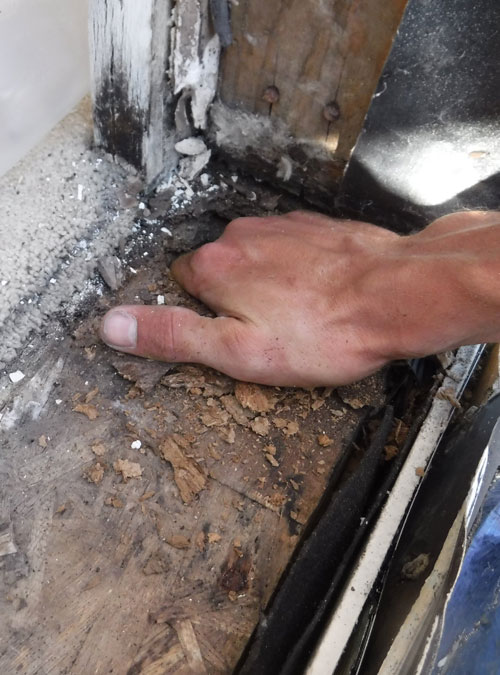 Test For Dry Rot With Hand