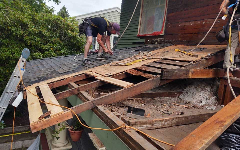 Taking Shingles Off Of Roof Before Rebuild