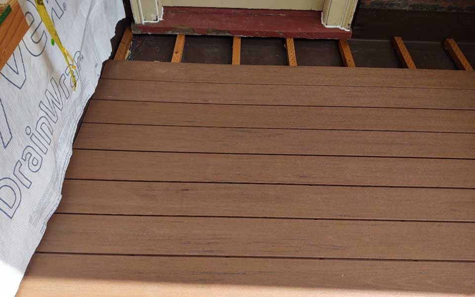 Structural Damage Repair, Upper Balcony Damaged From Tree Fall, Deck Rebuild