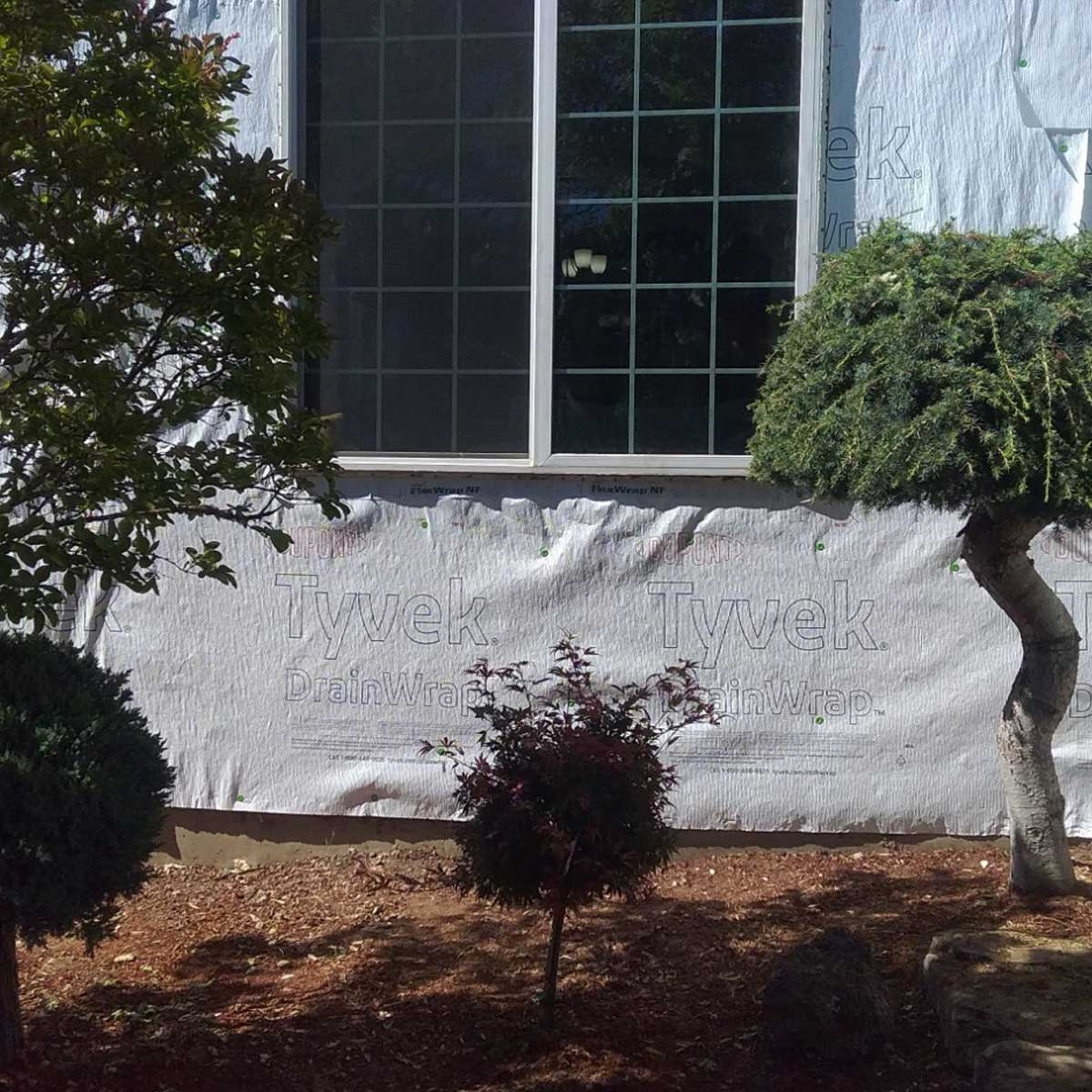 Weather Barrier And Window Installed